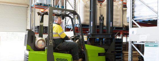 Man Operating a Heavy Equipment
